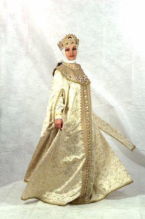 Костюм русской царицы для девочки своими руками 72